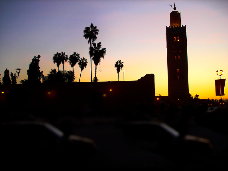 Marrakech skyline at sunset. 2007.