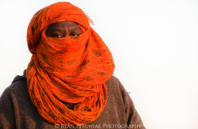 Berber man at sunrise.