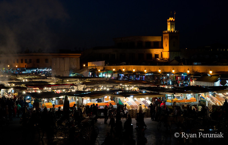 Back in Marrakech, for the third time, and the main square seems even crazier and more crowded than before.  My photos can't do the crowds justice, but it is clear why this location was the target of a 2011 terrorist bombing that killed 14 people and injured many more.  I purchase some dates from a street vendor and retire to my room early as I'm back on the road again tomorrow morning.