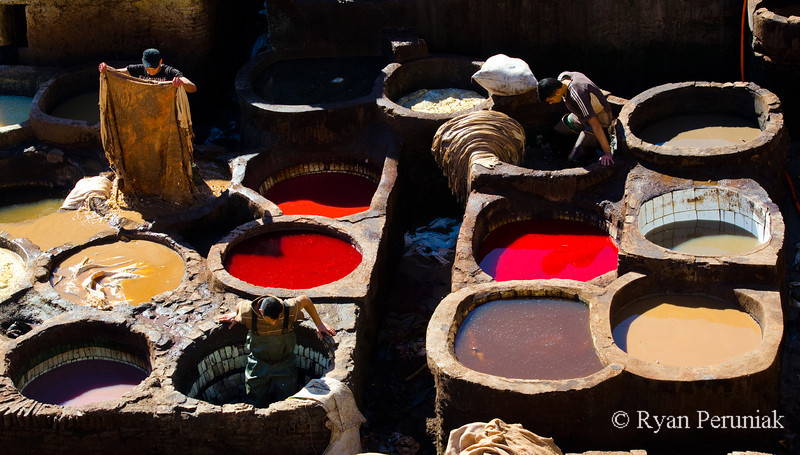 Leather tanneries, Fes