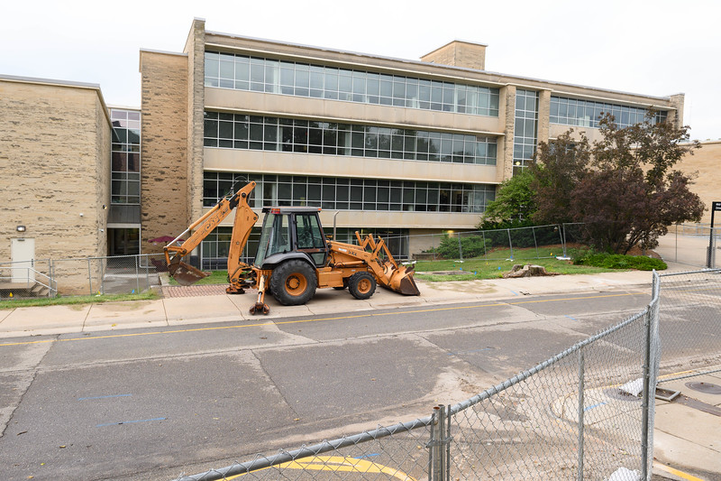Construction site for the Morris Family Multicultural Student Center. Oct 10, 2019. (Dylan Connell | Collegian Media Group)