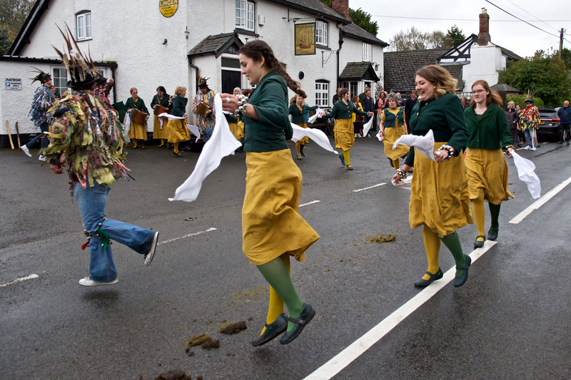 10. After a visit by three horses, the last dance, The Duck Race, became a bit of an obstacle race.