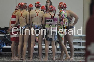 Morrison, Burlington at Clinton girls swimming (10-11-16)