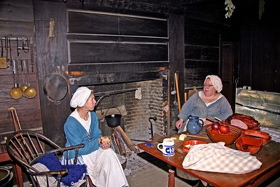Mary Wick and her Daughter Tempe in the Parlor of the Wick House