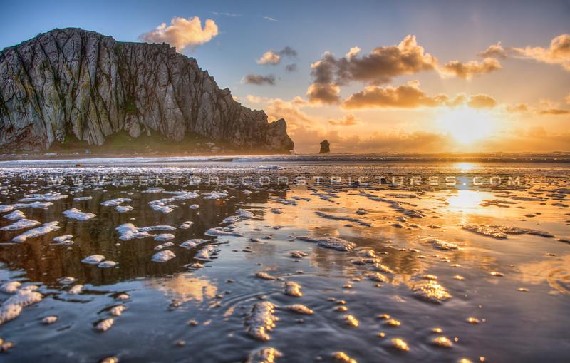morro bay rock sunrays_3278