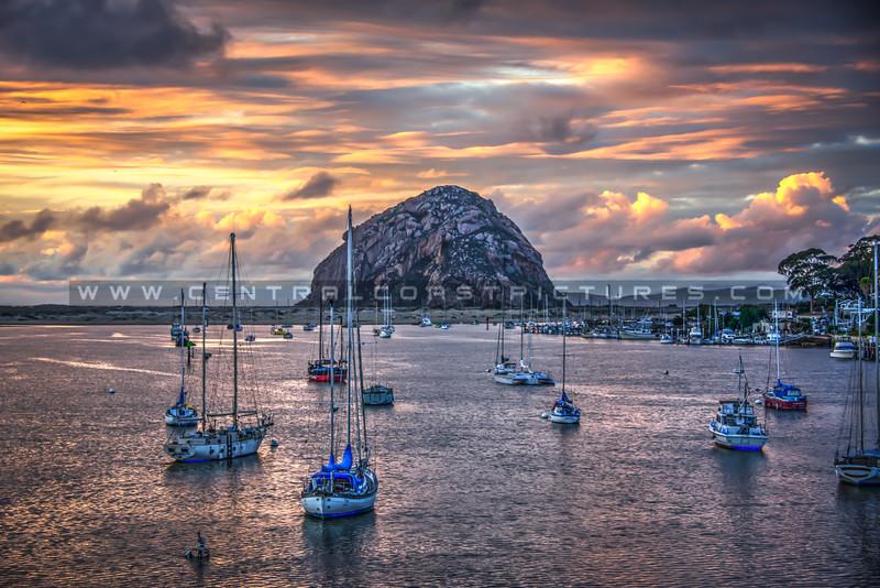 morro bay harbor sunset 5720-