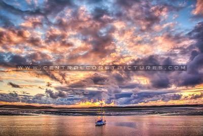 morro bay harbor sunset 5713-