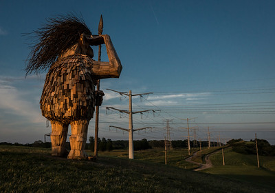 A troll surveys the perimeter of the Morton Arboretum in Lisle, IL