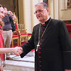 Brenda Halbrooks is greeted by His Beatitude Patriarch Fouad Twal