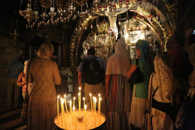 Inside the Church of the Holy Sepulcher - Golgotha