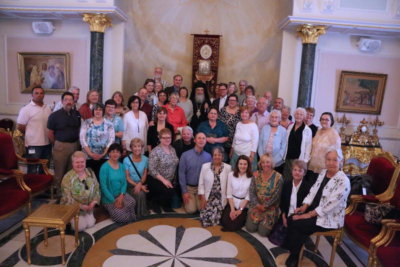 Group photo with His Beatitude Patriarch Theolpholis III