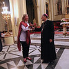 Sara Lisherness with His Beatitude Patriarch Fouad Twal