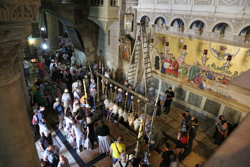 Inside the Church of the Holy Sepulcher
