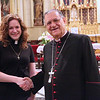 Mission Coworker Kate Taber with His Beatitude Patriarch Fouad Twal