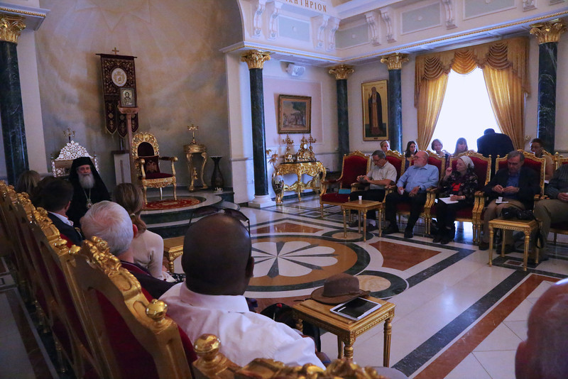 His Beatitude Patriarch Theolpholis III addresses the Mosaic of Peace Conference
