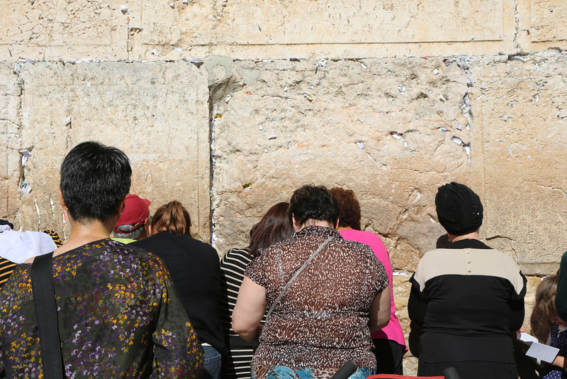 Mosaic of Peace team praying at the Western Wall