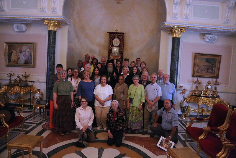 Group photo with His Beatitude Patriarch Theolpholis III