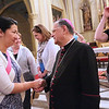 Irene Park is greeted by His Beatitude Patriarch Fouad Twal