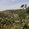 Looking out from the village of Battir - the train tracks below are Israeli only