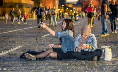 Selfies on Red Square