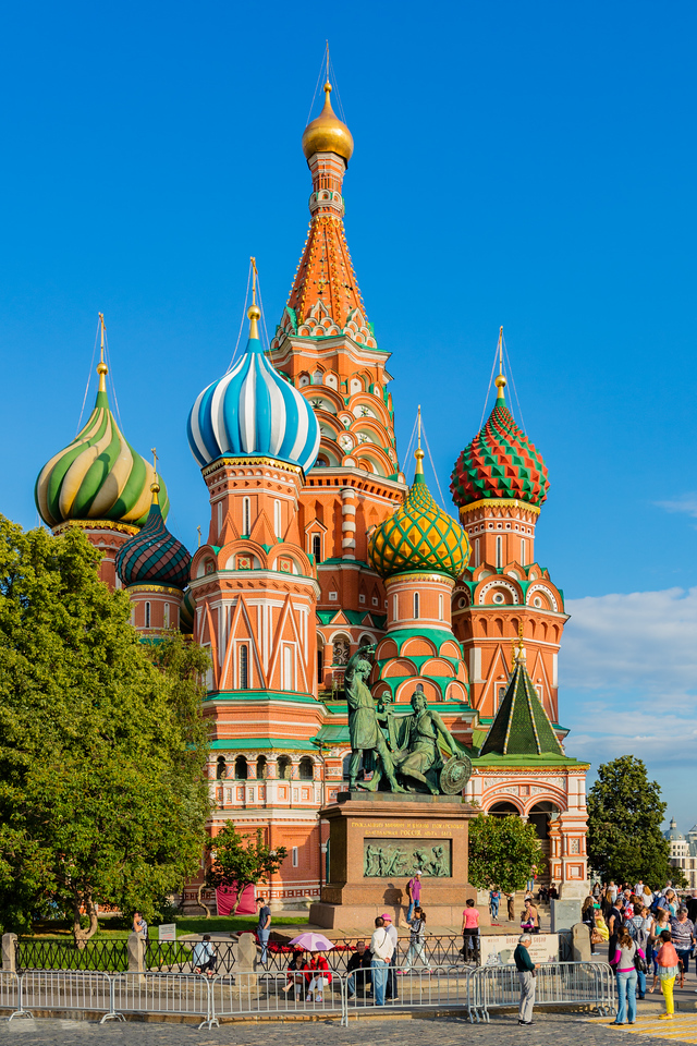 Famous onion domes of St Basil's Cathedral