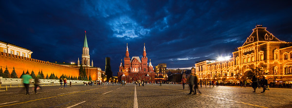 State Historical Museum, Red Square, Moscow, at the bue hour.