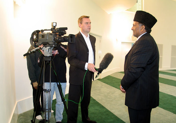 Amir UK being Interviewed by Television