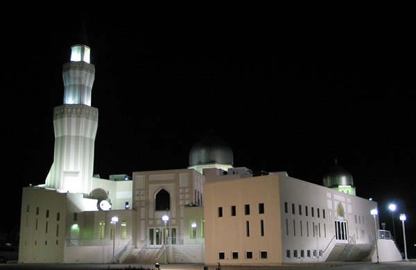Night View of Baitul Islam Mosque Canada