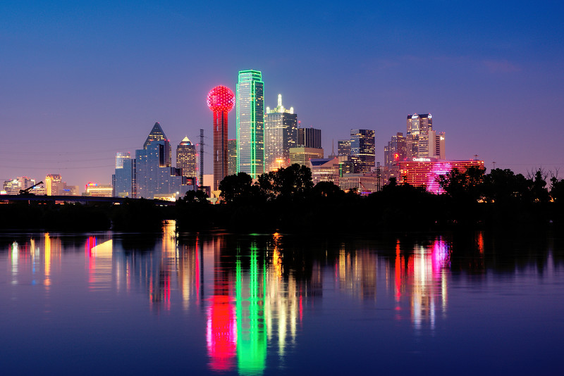 Dallas Skyline at the Blue Hour