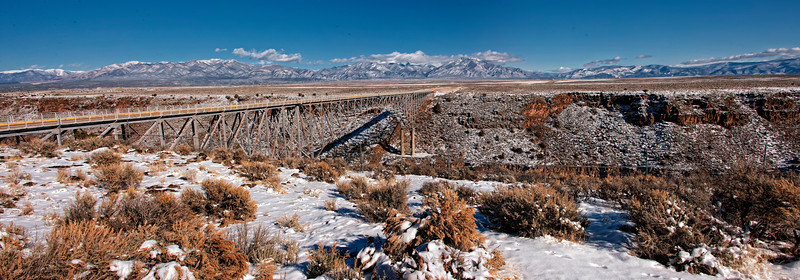 Rio Grande Gorge Bridge near Taos, New Mexico