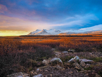 Winter Sunset in Iceland