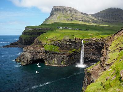 Múlafossur Waterfall in the Faroe Islands