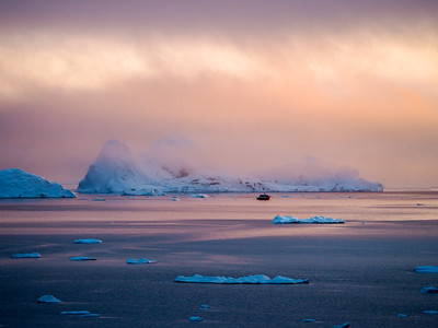 Ilulissat Icefjord Sunset in Greenland