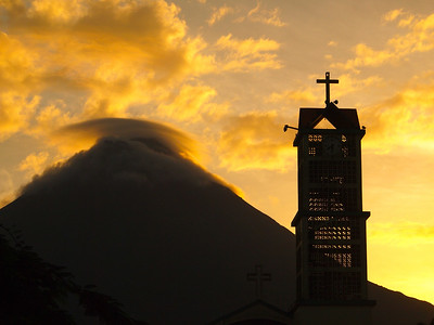 Sunset at Arenal Volcano in Costa Rica