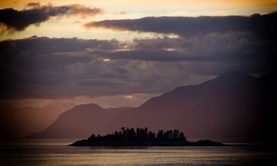 Remote Island on the Alaskan Coastline
