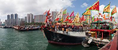 Fisherman's Jiao Festival, Aberdeen Harbour, Hong Kong