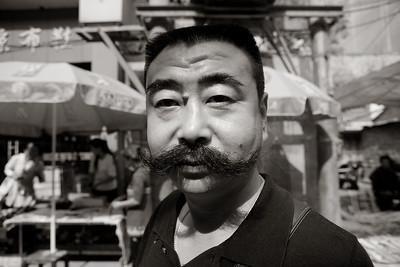 Handlebar Moustache, West Yangsi, Muslim Quarter, Xian