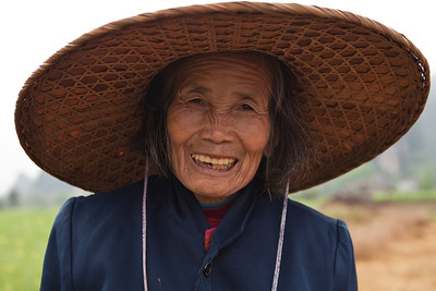 Old Lady on the Rice Fields, Yulong Valley