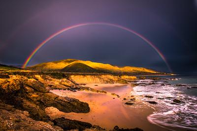 Malibu Fine Art Rainbow Sunset Seascape!  45Epic Dr. Elliot McGucken Fine Landscape and Nature Photography
