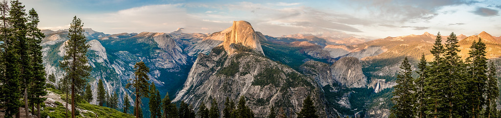 Nikon D810 89MP Panorama!  Yosemite Half Dome Panorama from Glacier Point! Dr. Elliot McGucken Fine Art Landscape & Nature Photography for Los Angeles Fine Art Gallery Show !