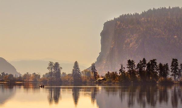 Vaseux Lake Autumn Reflection