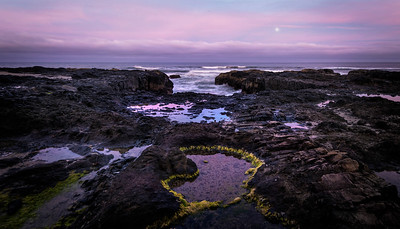 Moon Rise at Thor's Well