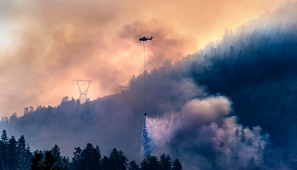 Gallagher Lake wildfire at Eagle Bluff