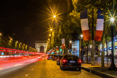 Champs Elysees, Paris, France on a Friday night