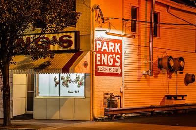 Eng's chinese restaurant, Broadway, Kingston, New York