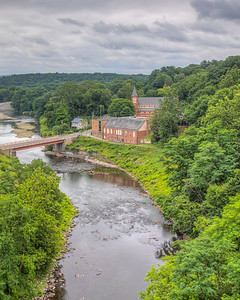 Saint Peter's Church and School along the Rondout Creek, Rosendale, New York