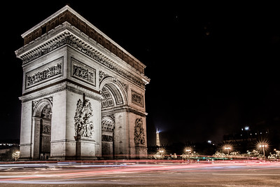 Traffic Circle around Arc de Triomphe, Paris, France