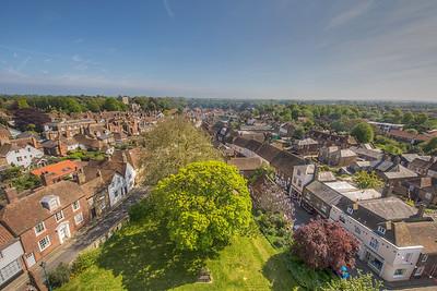 View from St. Peter's Church, Sandwich, Kent, England