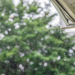Rainy summer day at home in Kingston, New York