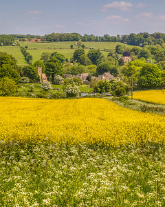 Overlooking Upper Slaughter, The Cotswolds, England